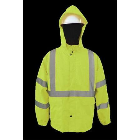 2W 750C-3 XL 100 Percent Waterproof Rain Jacket - Lime, Extra Large