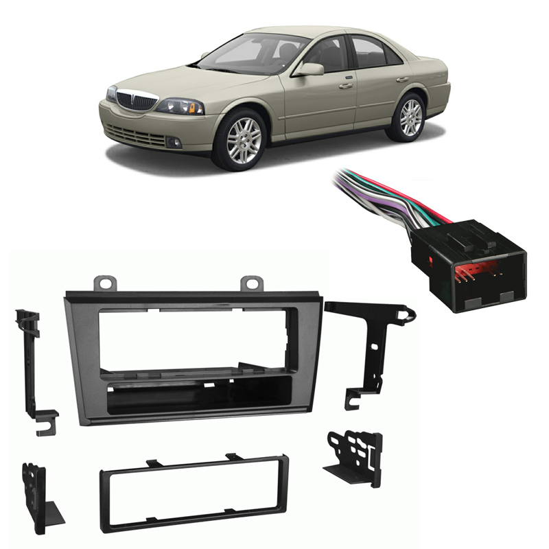 Absolute USA ABS99-5000 Fits Lincoln LS Series 2000-2003 Single DIN Stereo Harness Radio Install Dash Kit Package