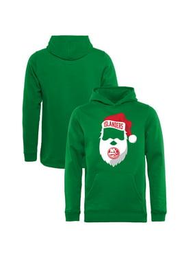 New York Islanders Fanatics Branded Youth Jolly Pullover Hoodie - Kelly Green