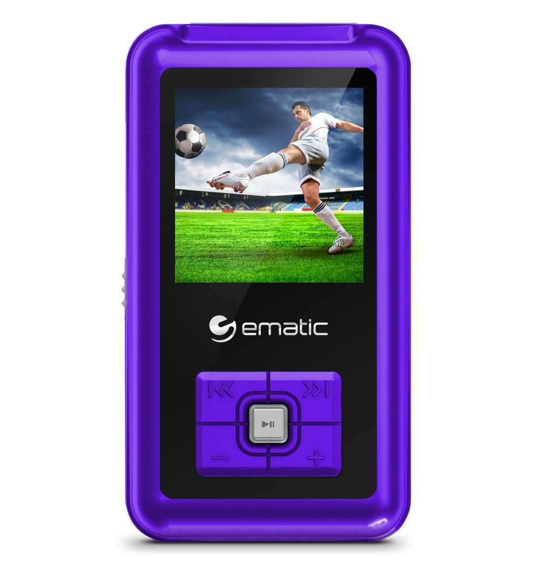 "Ematic Em208vid 8 Gb Purple Flash Portable Media Player - Photo Viewer, Video Player, Audio Player, Fm Tuner, Voice Recorder, E-book, Fm Recorder - 1.5"" - Usb - Headphone (em208vidpr)"