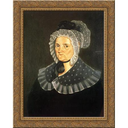 Jane Breathitt Sappington 24x20 Gold Ornate Wood Framed Canvas Art by George Caleb (Bingham Hudson)