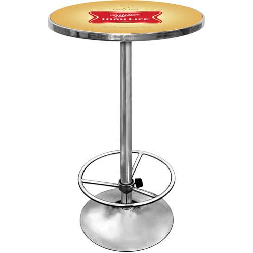 "Trademark Miller High Life 42"" Pub Table, Chrome"