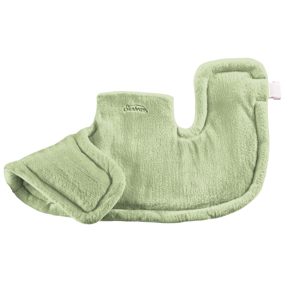 Sunbeam Renue Tension Relieving Heat Therapy Neck and Shoulder Wrap Heating Pad, Spa Green