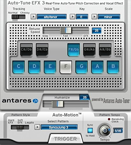 Click here to buy Antares Audio 21003 Auto-Tune EFX 3 Vocal Effects Processor by Antares.