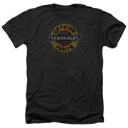 Chevy Genuine Chevy Parts Distressed Sign Mens Heather Shirt Black