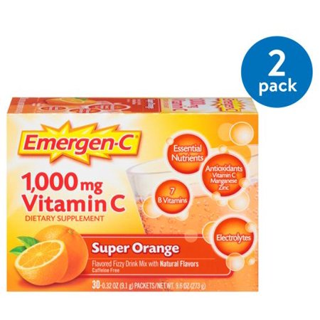 (2 Pack) Emergen-C (30 Count Super