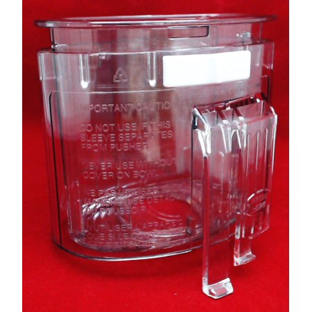 Cuisinart Food Processor Pusher and Sleeve for DLC-10 Series, DLC-118BGTX-1