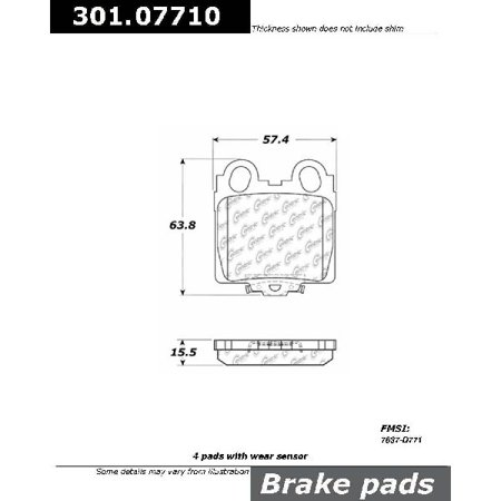 Go-Parts OE Replacement for 2001-2005 Lexus IS300 Rear Disc Brake Pad Set for Lexus IS300