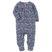 Carters Infant Girls Blue Heart Cotton Sleeper Footie Pajamas Sleep & Play 3m