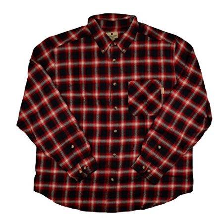 Woolrich Flannel Shirt (Woolrich Mens Flannel Long Sleeve Button Down - Red)