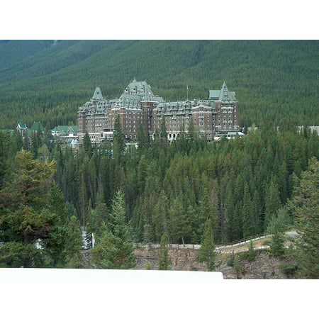 Laminated Poster Canada Alberta Travel Banff Springs Hotel Luxury Poster Print 24 X 36