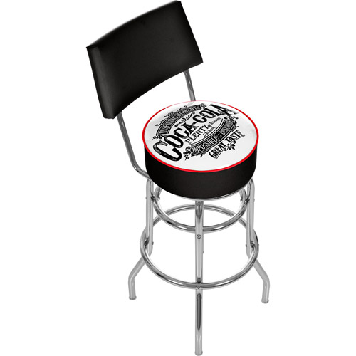 Coca Cola Brazil 1886 Vintage Pub Stool with Back