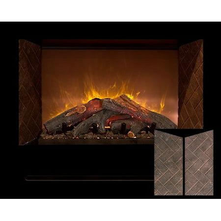 "Modern Flames Home Fire 36"" Custom Built-In Firebox W/ Black Glass Front"