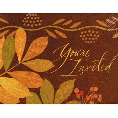 Autumn Leaves Invitation - Autumn Leaves Invitations w/ Envelopes (8ct)