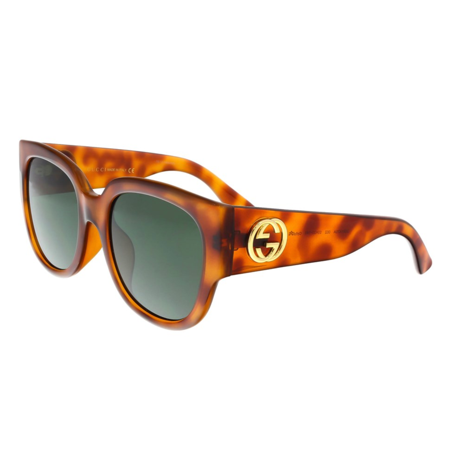 gucci gg0142sa 002 havana round (Gucci Floral Sunglasses)