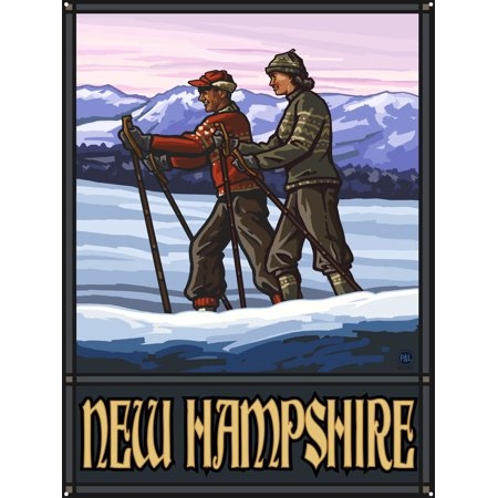 New Hampshire Cross Country Skiers Metal Art Print by Paul A. Lanquist (18