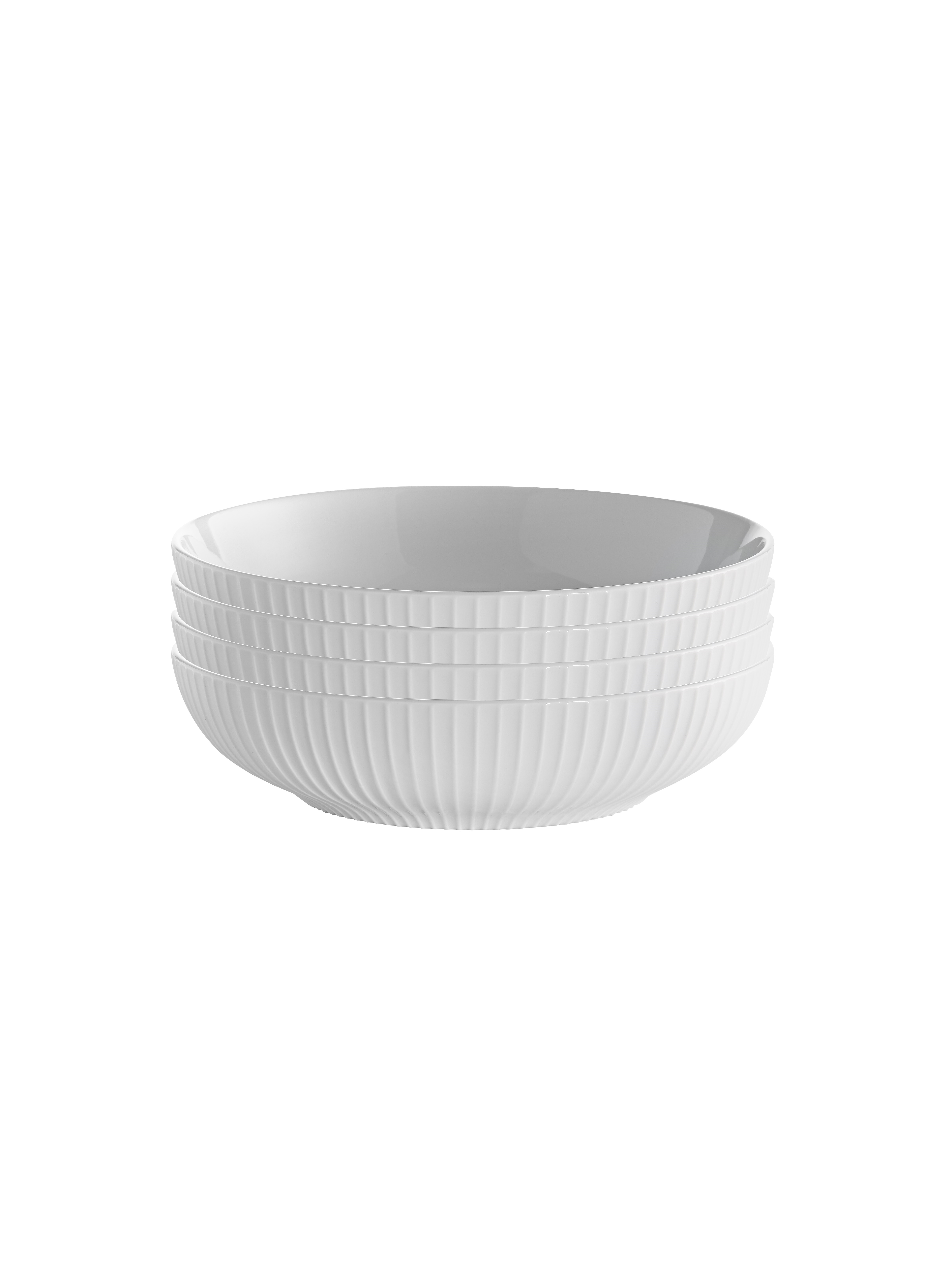 overandback Porcelain Textured Pasta Bowls, Set of 4, white by Over & Back