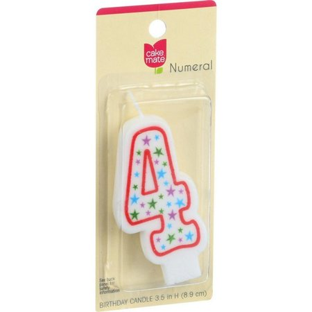 Cake Mate Birthday Party Candle - Numeral - 4 - 3 In - 1 Count - Pack of 6](Candle Cake)