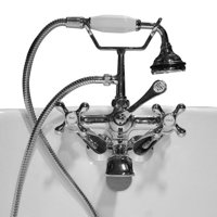 Cambridge Plumbing Clawfoot Wall Mount Tub Faucet with Hand Held Shower