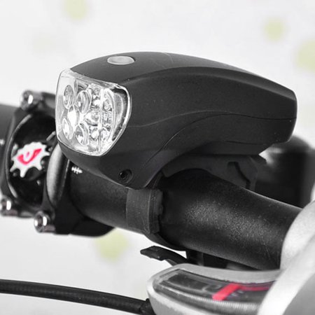 Super Bright 5 LED Bike Bicycle Front Light Safety Night Riding Warning