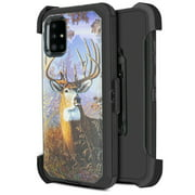 for Samsung Galaxy A51 4G (NOT FIT SAMSUNG A51 5G) Case Phone Case Dual Layer Full-Body Rugged Clear Back Case Drop Resistant Shockproof Case with Built In Screen Protector (Big Buck)