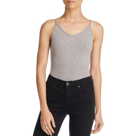 Free People Womens Adjustable Straps Heathered Bodysuit