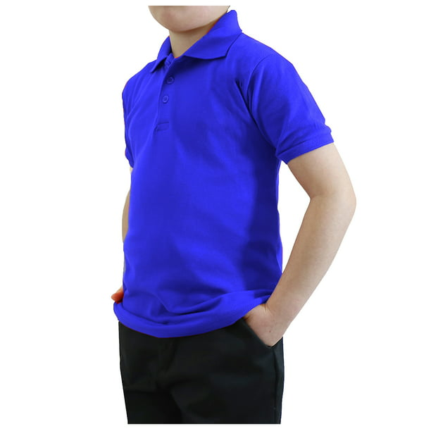 Boy's Short Sleeve School Uniform Pique Polo Shirts (Big Boys)