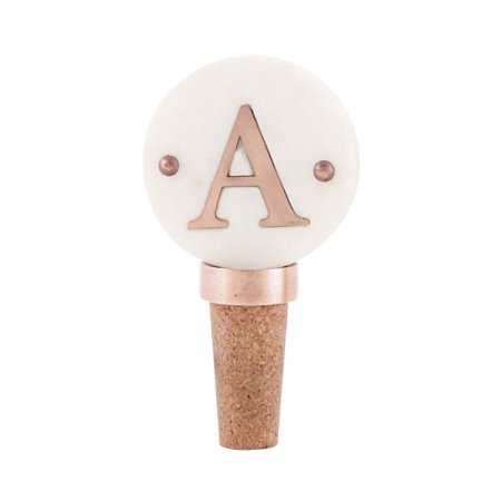 Mud Pie Mud Pie A Initial Copper Wine Bottle Stopper Novelty Bar (Initial Stopper)