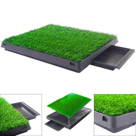 Dog Potty home Training Toilet Pad Grass Surface Pet Park Mat Outdoor Indoor ()