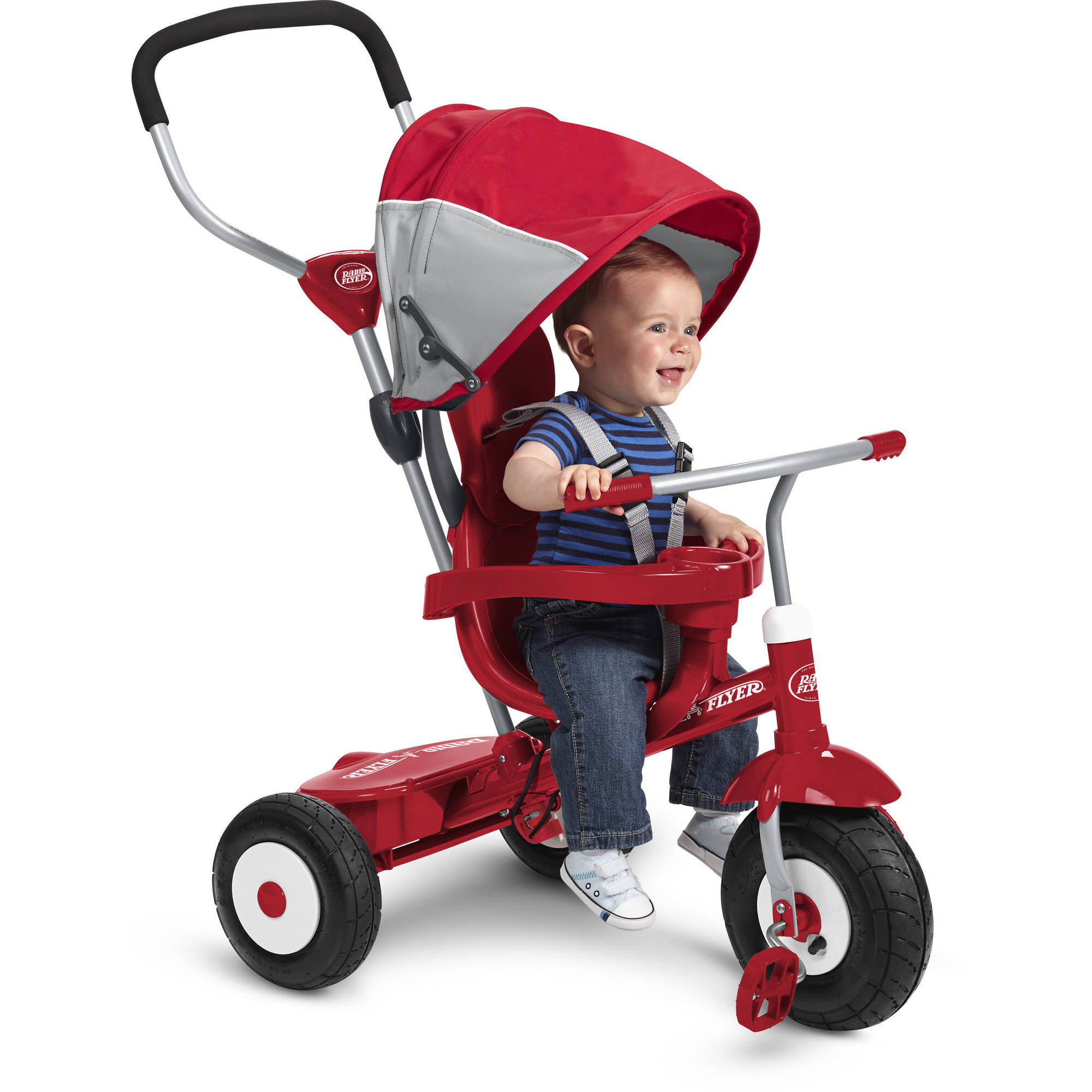 Radio Flyer All Terrain Stroll N Trike Ride Red Walmart