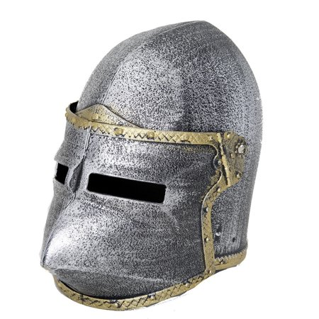 Child Knight Helmet Pointed Crusader With Flip Up Mask Medieval Boys Costume (Medieval Knight Mask)