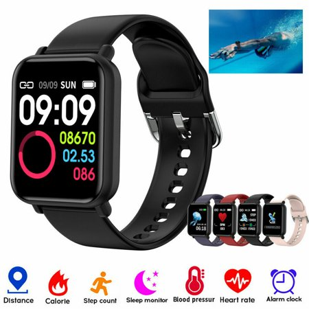 R16 Touch Smart Watch Women Men Heart Rate Bracelet For iPhone Android Waterproof-Pink