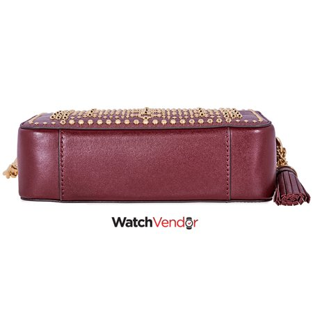 59bf848aeda9 Michael Kors Ginny Medium Studded Leather Crossbody- Oxblood - image 2 of 4  ...