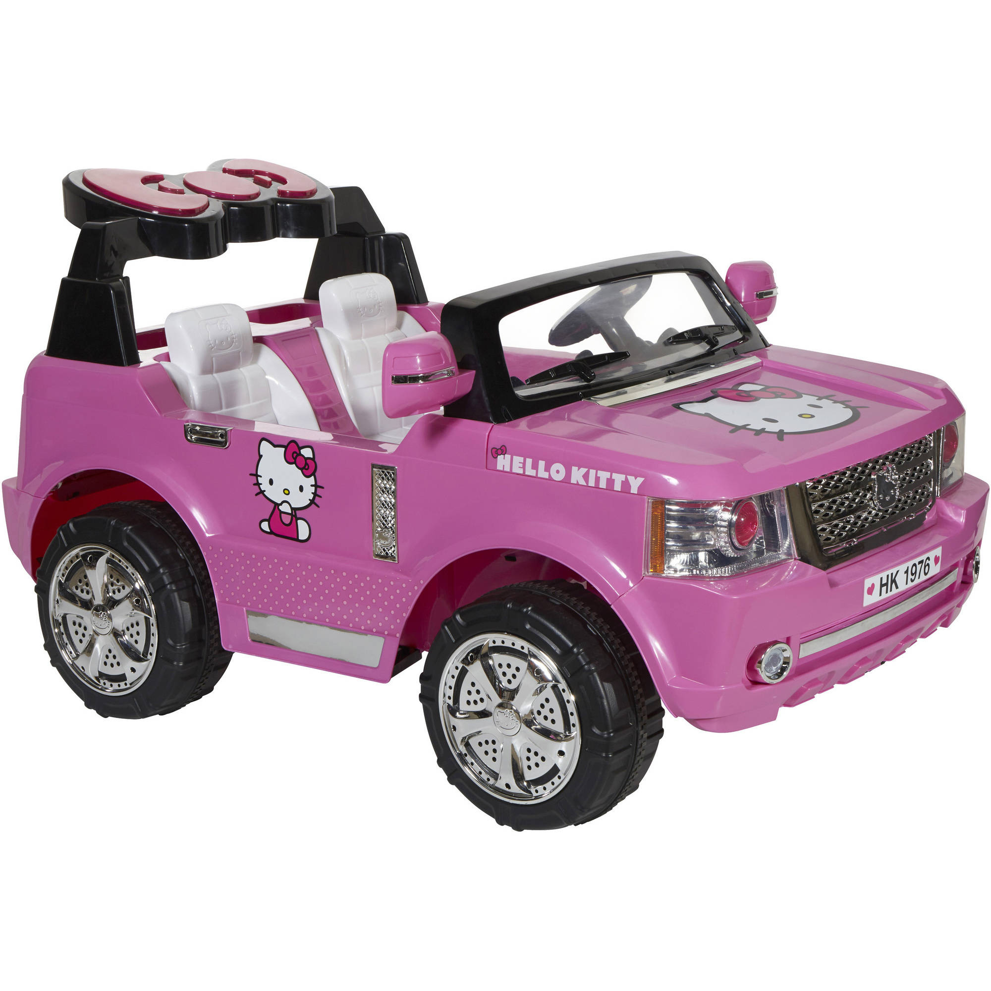 hello kitty suv 12 volt battery powered ride on walmartcom