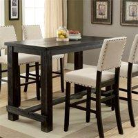 Furniture of America Stanton Pub Table in Antique Black