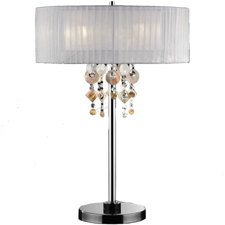 Ok Lighting 29In H Jewel Table Lamp Ok 5136T  White