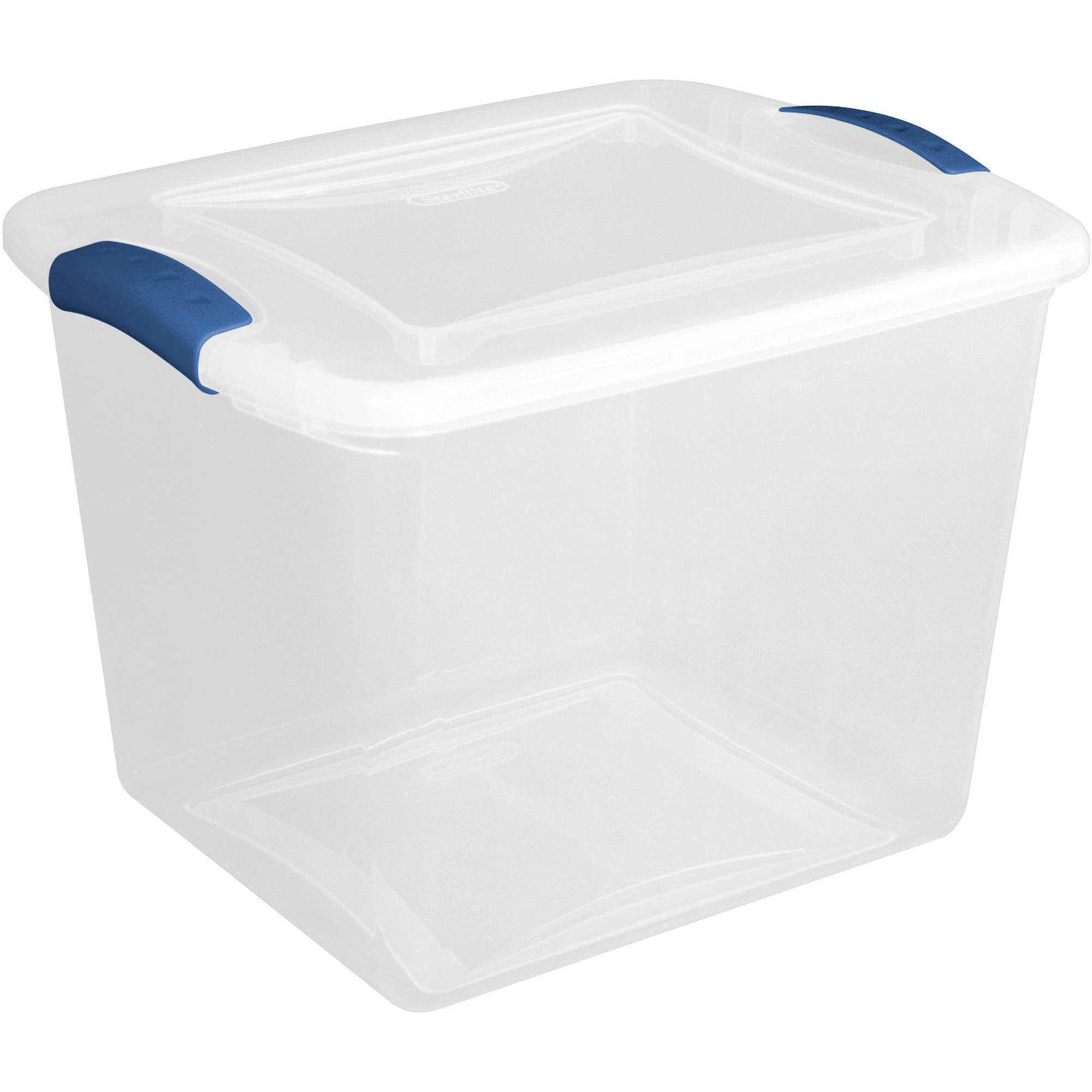 Sterilite 27 Quart Latch Box- Blue Eclipse, Set of 10