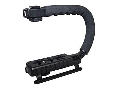 Pro Video Stabilizing Handle Grip for Nikon Coolpix S500 Vertical Shoe Mount Stabilizer Handle
