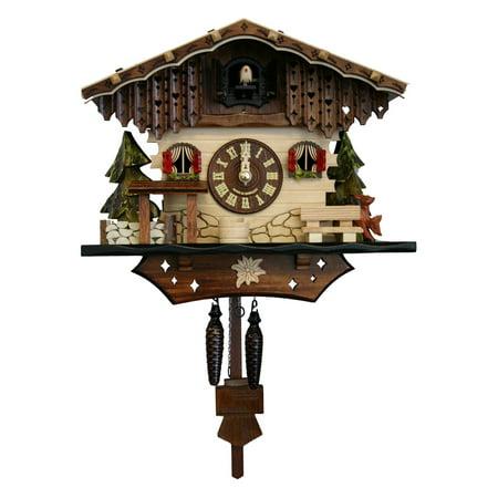 Black Forest 8.5-Inch High Cuckoo Clock Black Forest Chalet Cuckoo Clock