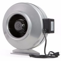 XtremepowerUS 8'' 2400RPM 770CFM Inline Exhaust Duct Air Blower Hydroponics Fan with Vent Bracket, Sliver