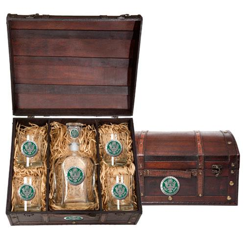 Army Capitol Decanter Chest Set