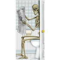 Skeleton Restroom Door Cover Halloween Decoration