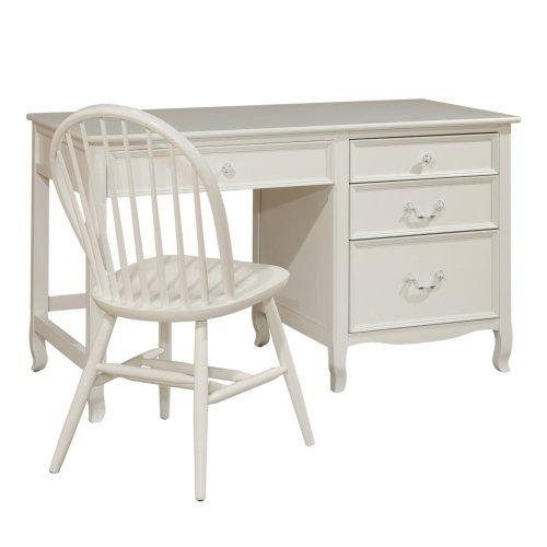 Emma 4 Drawer Desk - White