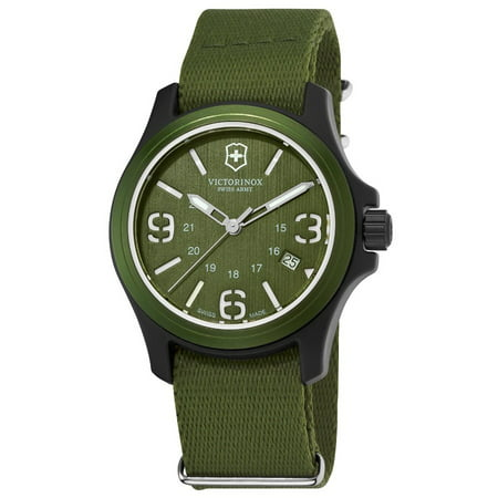 241514 Men's Original Green Dial Green Nylon Strap Watch - Hour Dial Green Nylon Strap