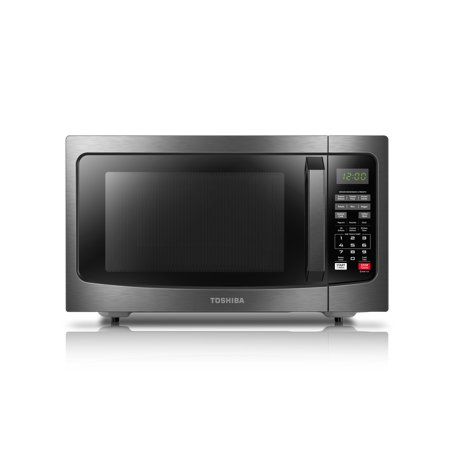 Toshiba ML2-EM31PAEBS 1.2 Cu. Ft. Microwave with Smart Sensor, Black Stainless Steel