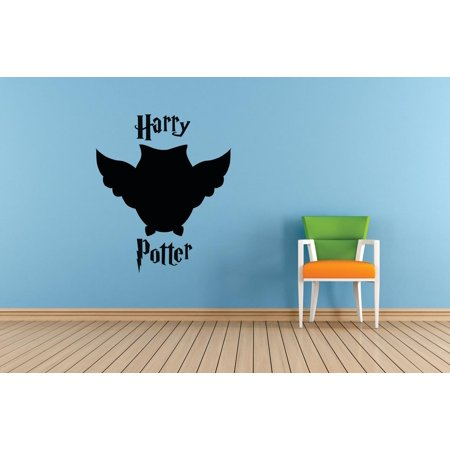 Harry Potter Magical Owl Character Films Movies Books Series Art Design Silhouette Peel & Stick Custom Wall Decal Vinyl Sticker 12 Inches X 12 Inches - Owl Silhouette