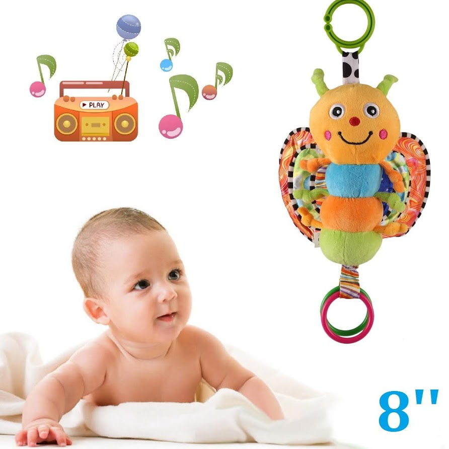 Soft Butterfly Rattle Baby Musical Toys Suitable For Newborn Giraffe