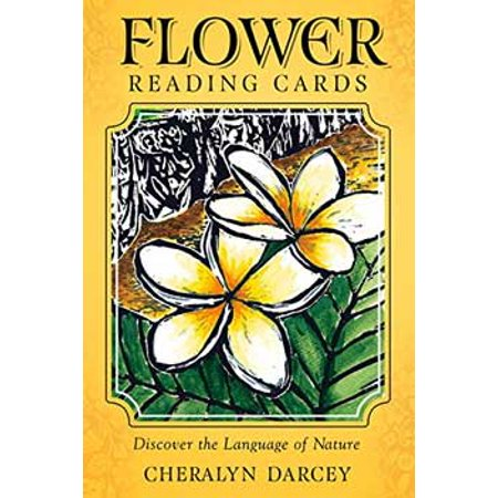 Tarot Cards Flower Reading Deck Symbolic Meanings Ancient Art of Floramancy Includes 36-Cards and 96 Page Full Color Booklet Fortune Telling Tool by Cheralyn Darcey - Mysterious Fortune Cards