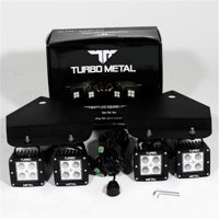 TurboMetal 12 W Cree LED Light Bar Set & Bumper Mounting Brackets for 2010-2014 Ford F150 Raptor