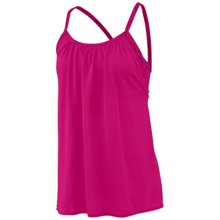 Augusta Sportswear Women's Sadie Tank Xl Power Pink/Power Pink Plexus Print - image 1 of 1
